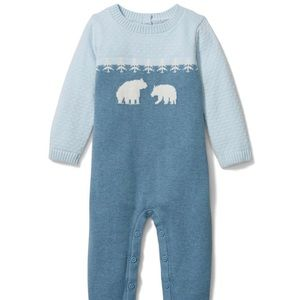 NWT Janie and Jack Baby Bear Sweater 1-Piece